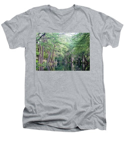Medina Creek In Summer Men's V-Neck T-Shirt
