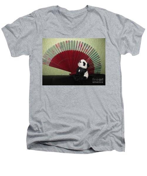 Men's V-Neck T-Shirt featuring the photograph Meditation Hour by Ausra Huntington nee Paulauskaite