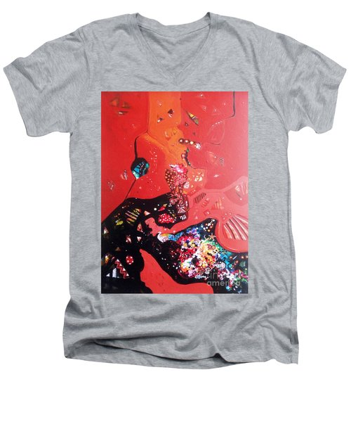 meditation I Men's V-Neck T-Shirt by Sanjay Punekar