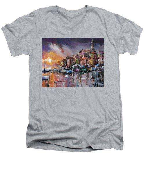 Mediterranean Motif IIi      Men's V-Neck T-Shirt