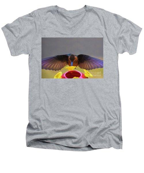 Meet Andre The Giant  Men's V-Neck T-Shirt by Al Bourassa