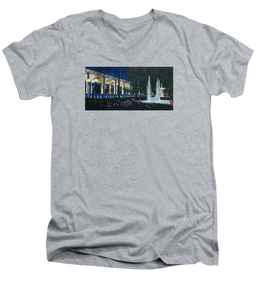 Meet Me At The Muny Men's V-Neck T-Shirt by Michael Frank