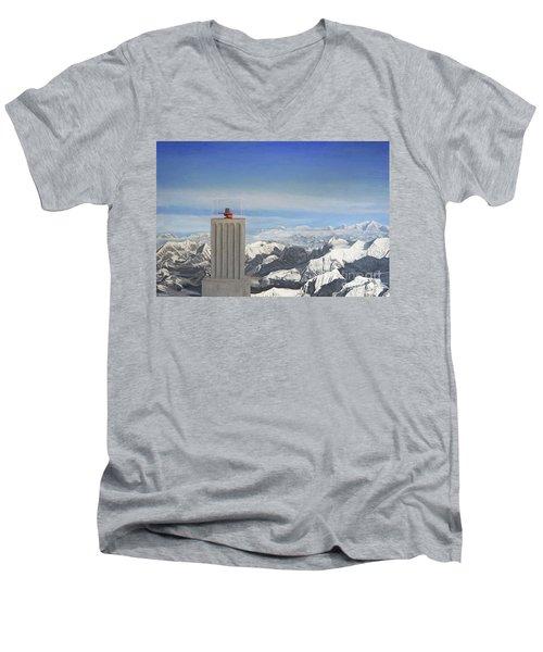 Meeting Table Oil On Canvas Men's V-Neck T-Shirt