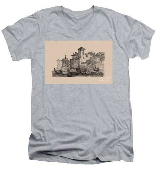 Meetings At The Dock Men's V-Neck T-Shirt