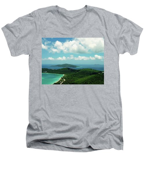 Megan's Bay St. Thomas Men's V-Neck T-Shirt