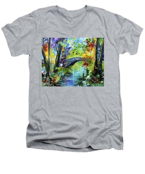 Megan's Bridge Men's V-Neck T-Shirt