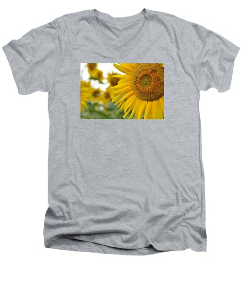 Mellow Yellow Men's V-Neck T-Shirt by Joanne Brown