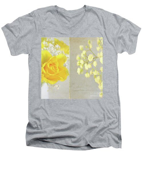 Men's V-Neck T-Shirt featuring the photograph Mellow Yellow by Lyn Randle
