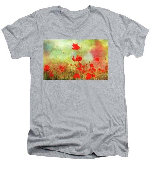 Melody Of Summer Men's V-Neck T-Shirt