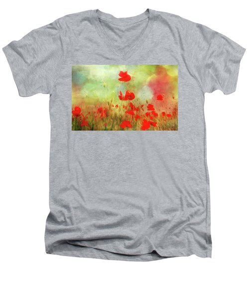 Melody Of Summer Men's V-Neck T-Shirt