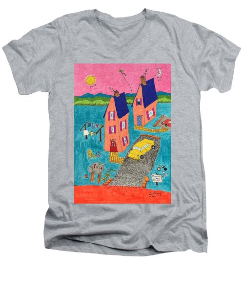 Melon Houses Men's V-Neck T-Shirt