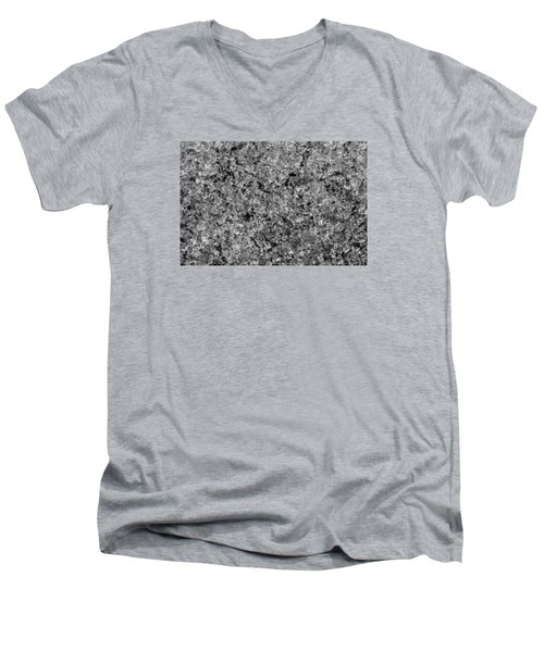 Men's V-Neck T-Shirt featuring the photograph Melting Snow by Chevy Fleet
