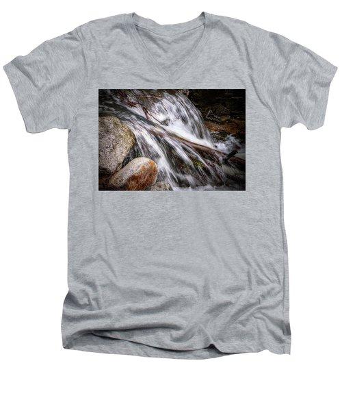 Melting Snow Falls Men's V-Neck T-Shirt by Elaine Malott