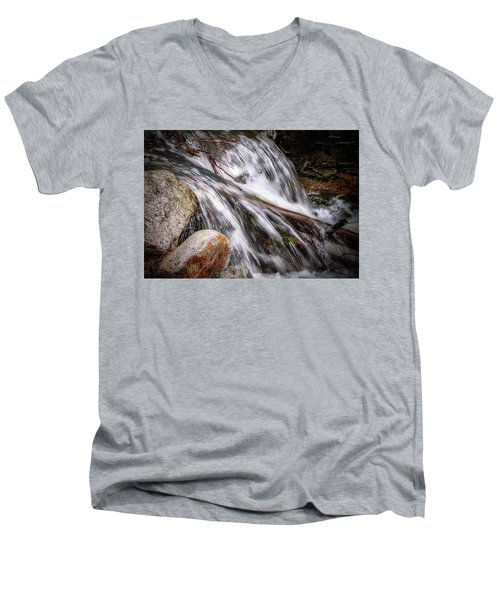 Melting Snow Falls Men's V-Neck T-Shirt