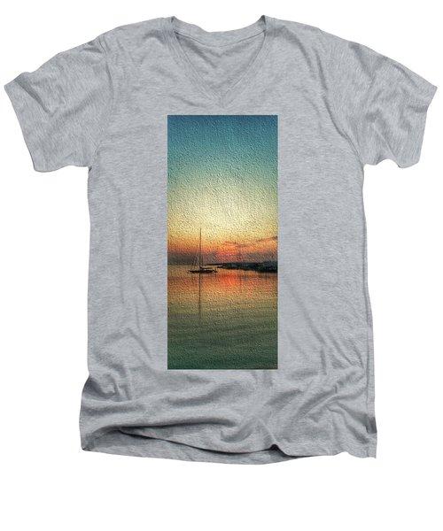 Melting Suneset  Men's V-Neck T-Shirt