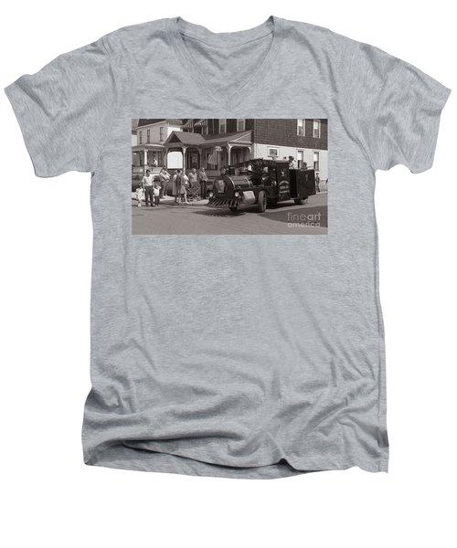 Memorial Day Parade  Ashley Pa  Corner Of W Hartford And Brown  Circa 1965 Men's V-Neck T-Shirt