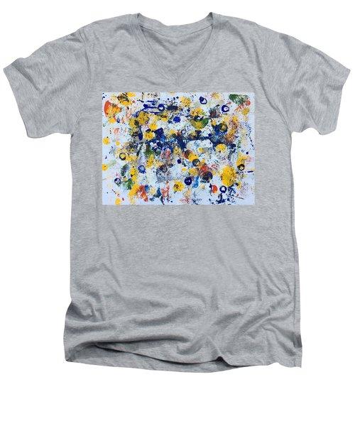 Michigan No 3 Men's V-Neck T-Shirt