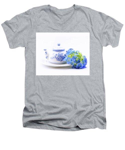 Memories In Blue Men's V-Neck T-Shirt