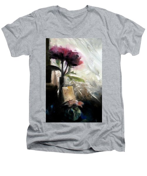 Memories In The Making Timeless Still Life Painting Men's V-Neck T-Shirt by Michele Carter