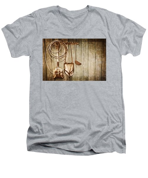 Men's V-Neck T-Shirt featuring the photograph Memories Of Grandpa by Carolyn Marshall