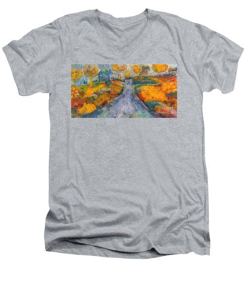 Memories Of Home In Autumn Men's V-Neck T-Shirt