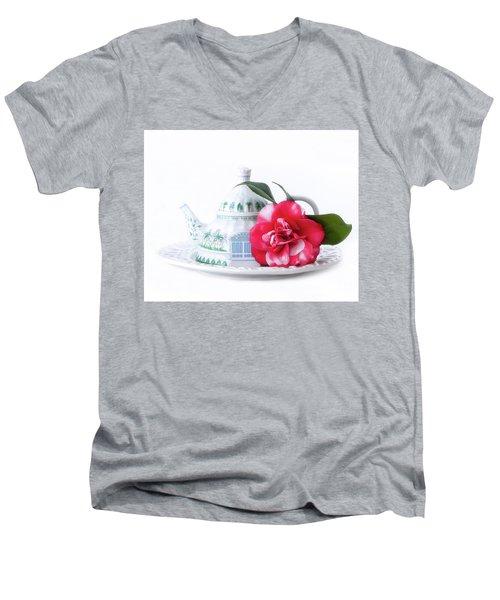 Memories Red Men's V-Neck T-Shirt