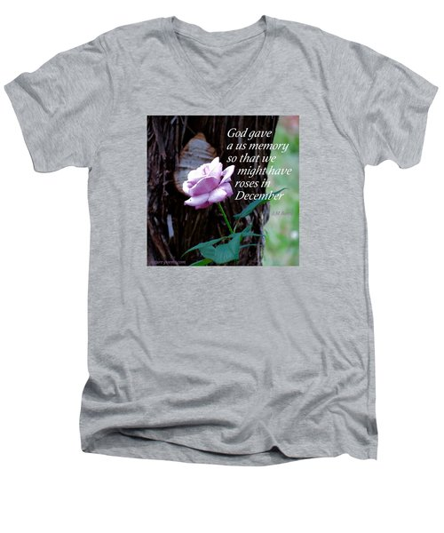 Men's V-Neck T-Shirt featuring the photograph Memories Throughout  by David Norman