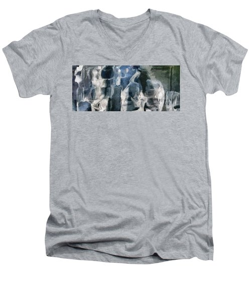 Memory Hotel - Dark Canvas Abstract Art Men's V-Neck T-Shirt