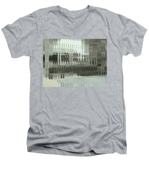 Men's V-Neck T-Shirt featuring the digital art Memory Palace - Fading by Wendy J St Christopher