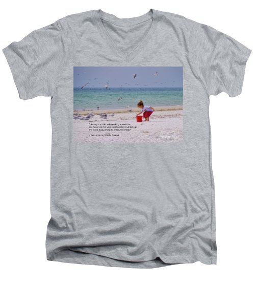 Men's V-Neck T-Shirt featuring the photograph Memory by Peggy Hughes