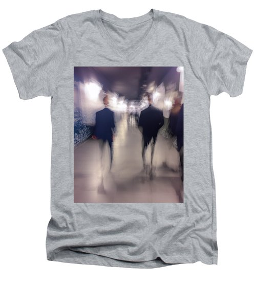 Men In Suits Men's V-Neck T-Shirt