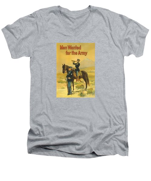 Men Wanted For The Army Men's V-Neck T-Shirt by War Is Hell Store