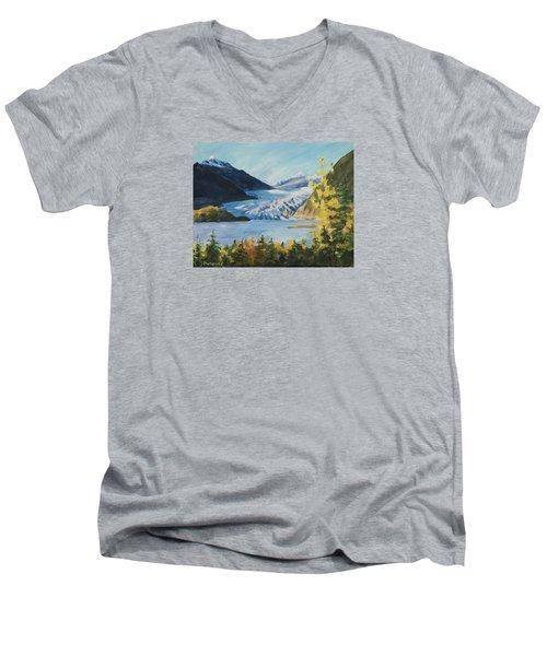 Mendenhall Glacier Juneau Alaska Men's V-Neck T-Shirt
