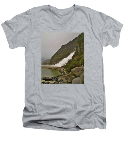 Mendenhall Glacier Park Men's V-Neck T-Shirt by Martin Cline