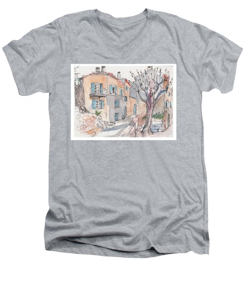Menerbes Men's V-Neck T-Shirt by Tilly Strauss