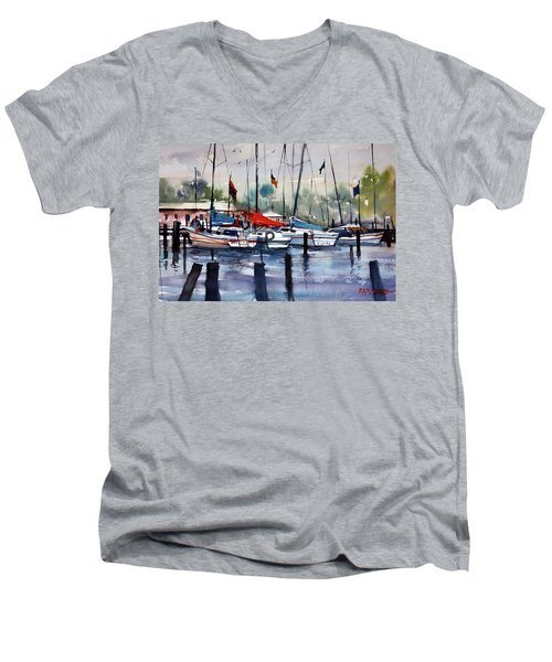 Menominee Marina Men's V-Neck T-Shirt