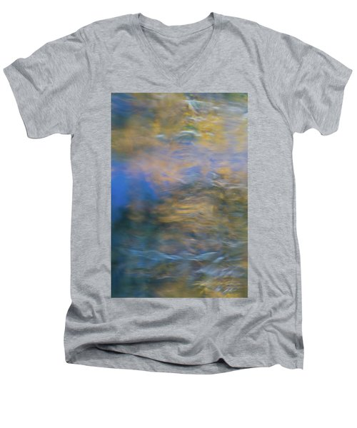 Merced River Reflections 18 Men's V-Neck T-Shirt