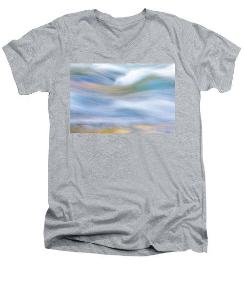 Merced River Reflections 19 Men's V-Neck T-Shirt