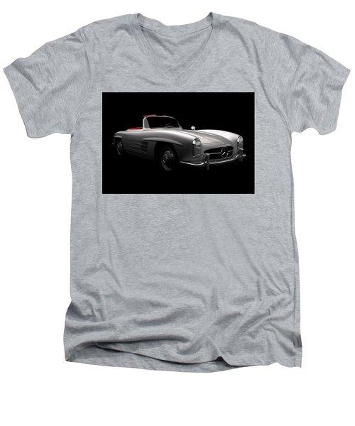 Mercedes 300 Sl Roadster Men's V-Neck T-Shirt