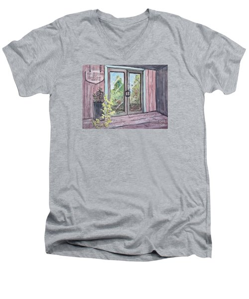 Mercier Orchard's Hard Cider Men's V-Neck T-Shirt