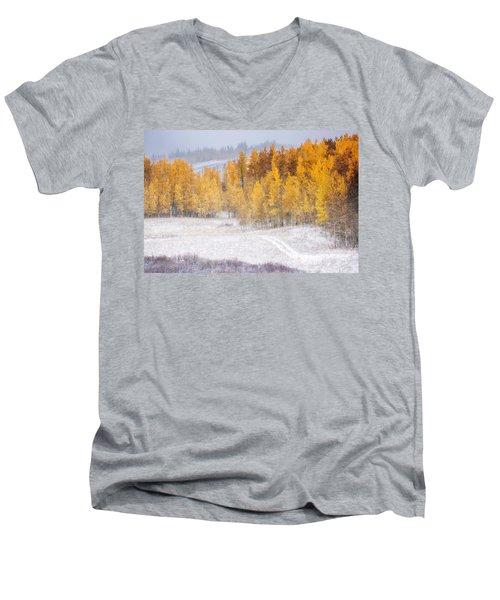 Merging Seasons Men's V-Neck T-Shirt