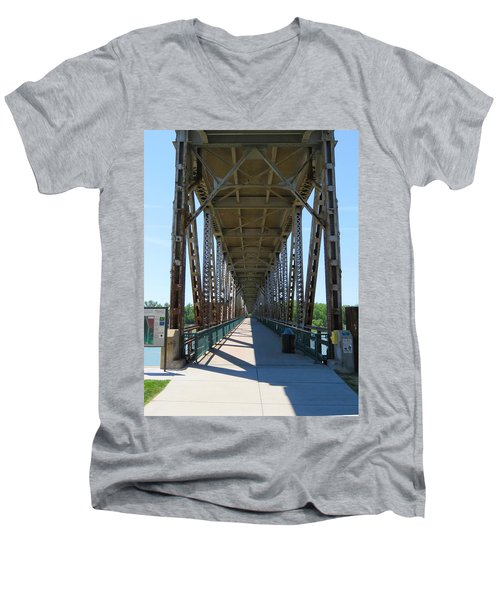 Meridian Bridge Men's V-Neck T-Shirt