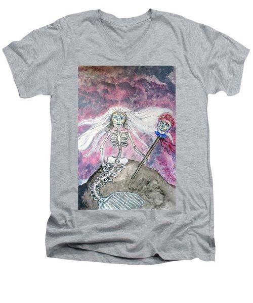 Meridol Queen Of The Undead Mermaids Men's V-Neck T-Shirt