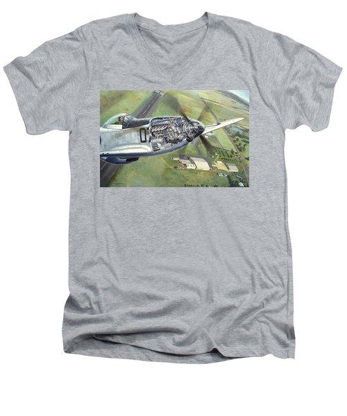 Merlin Magic Over Scone Men's V-Neck T-Shirt