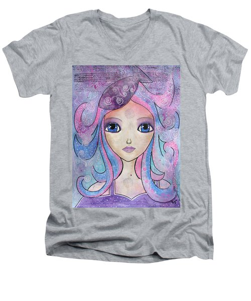 Mermaid  Men's V-Neck T-Shirt