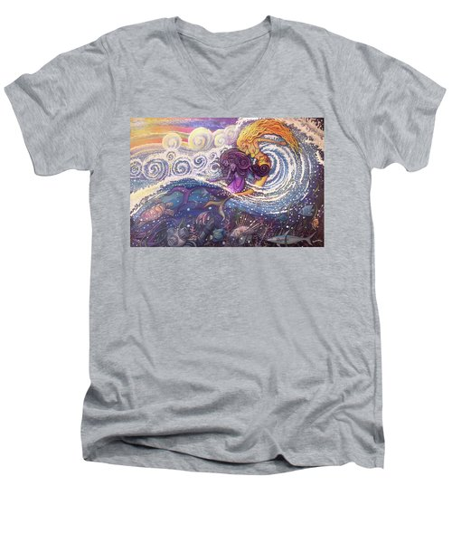 Mermaids In The Surf Men's V-Neck T-Shirt