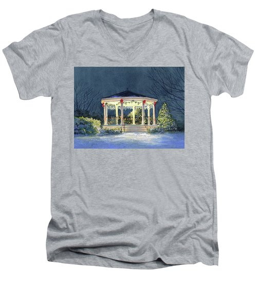 Merry And  Bright II Men's V-Neck T-Shirt