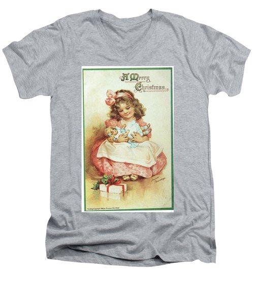 Merry Christmas For My Dolly Men's V-Neck T-Shirt