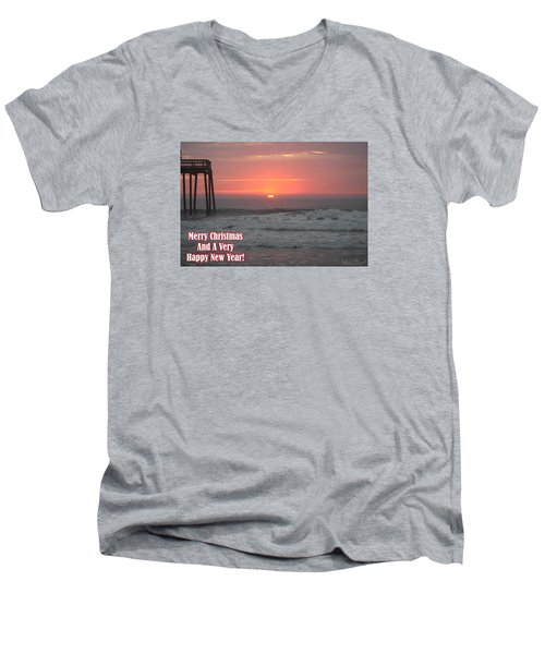 Merry Christmas Sunrise  Men's V-Neck T-Shirt