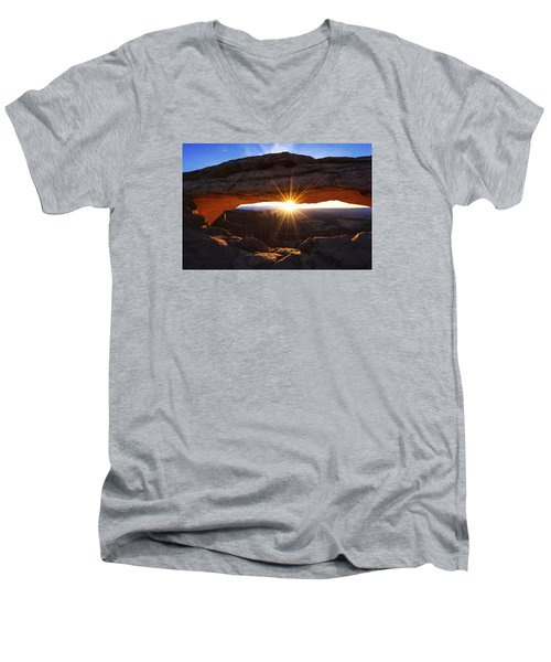 Mesa Sunrise Men's V-Neck T-Shirt by Chad Dutson